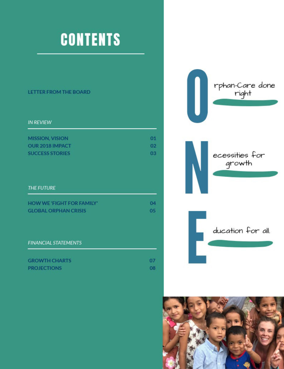 OTI 2018 Impact Report - Contents