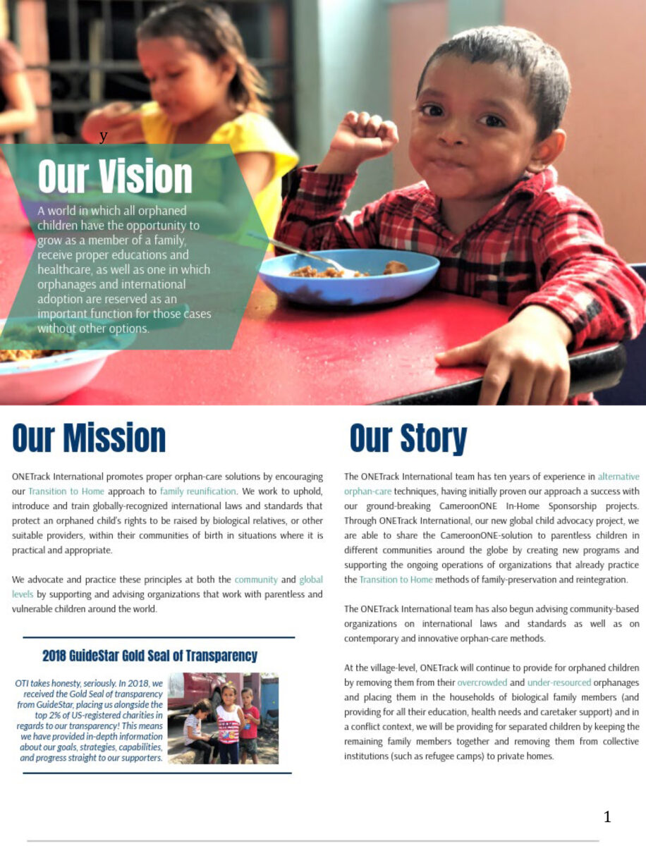 OTI 2018 Impact Report - Our Vision