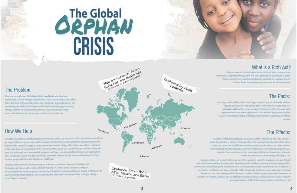 2018 ONETrack International Impact Report - Orphan Crisis