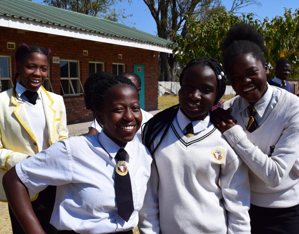 ONETrack International in Zimbabwe - Hannah and her classmates