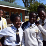 ONETrack International in Zimbabwe - Hannah and her classmates