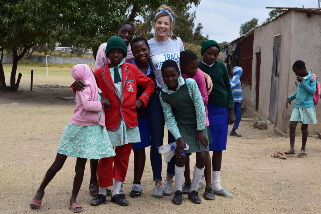 Hilary at a site visit in Zimbabwe, 2019