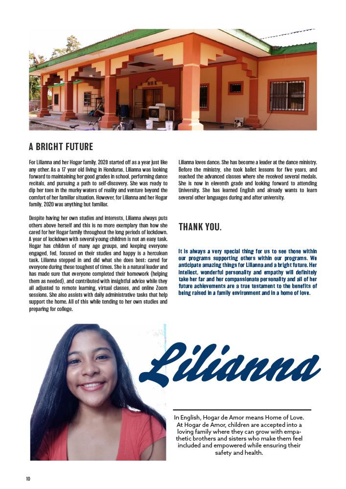 ONETrack International - 2020 Impact Report - Lilianna