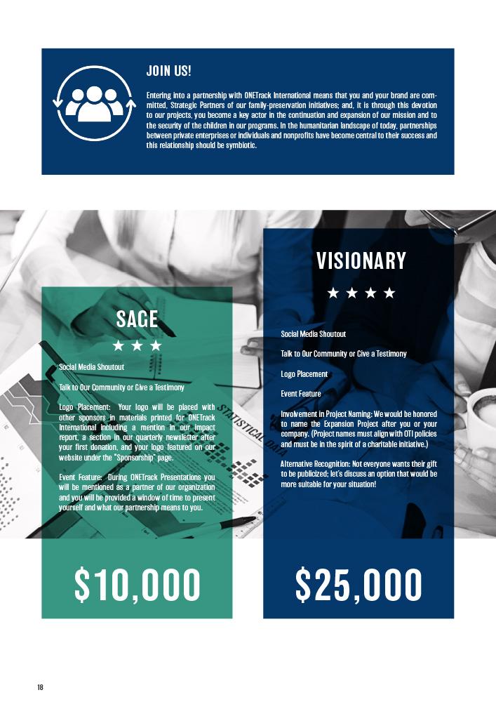 ONETrack International - 2020 Impact Report - Sponsorship