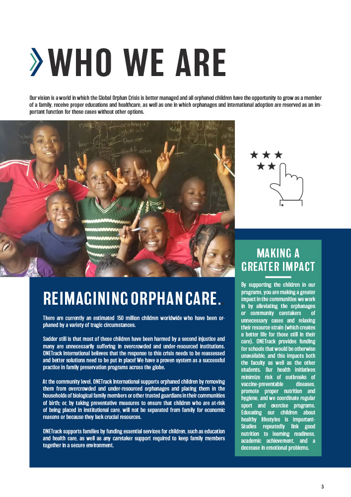 ONETrack International - 2020 Impact Report - Who We Are