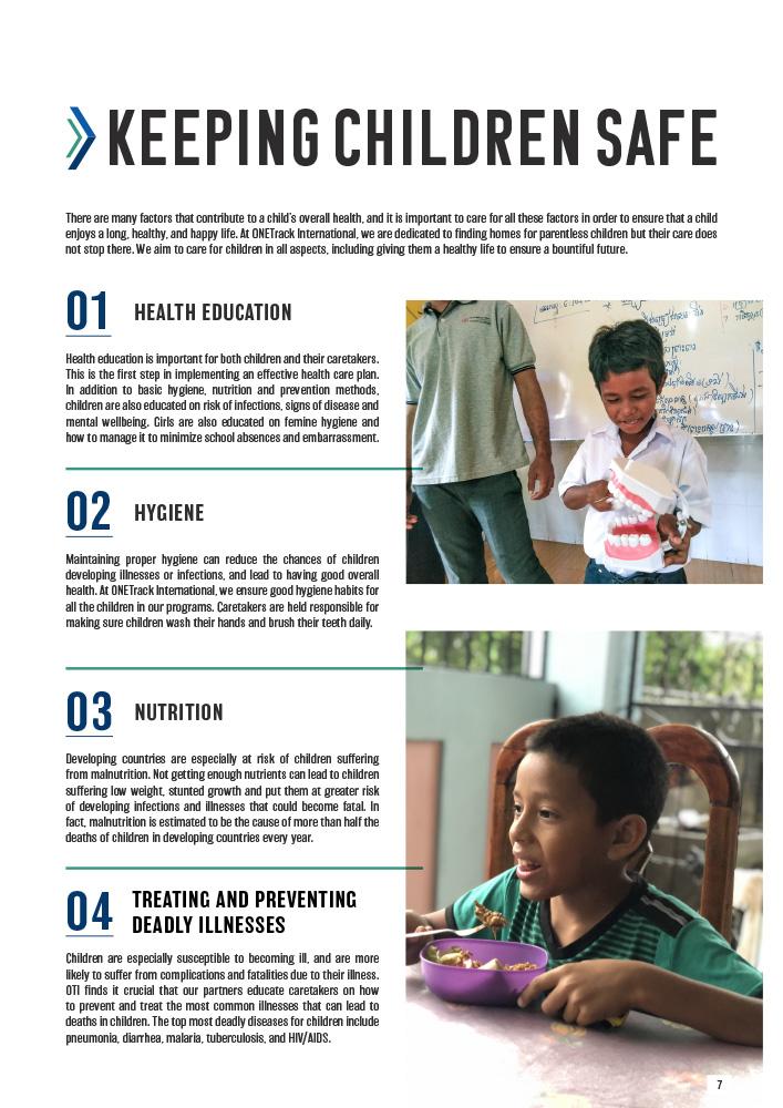 ONETrack International - 2020 Impact Report - Keeping Children Safe