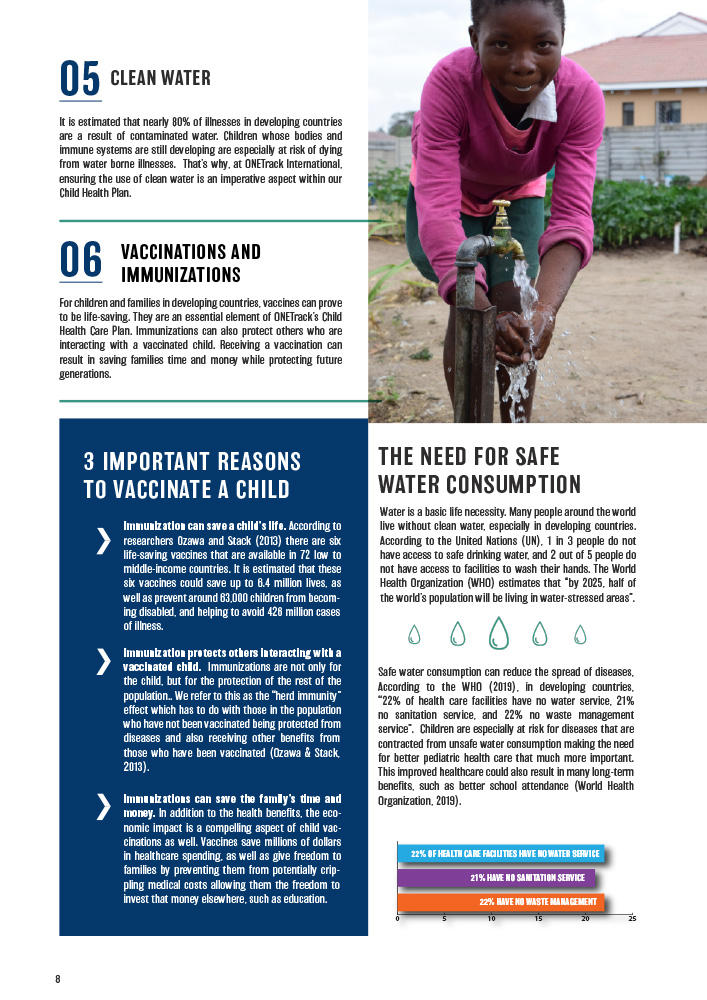 ONETrack International - 2020 Impact Report - Vaccination and Safe Water